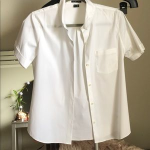 Theory Short Sleeve Button Up Top